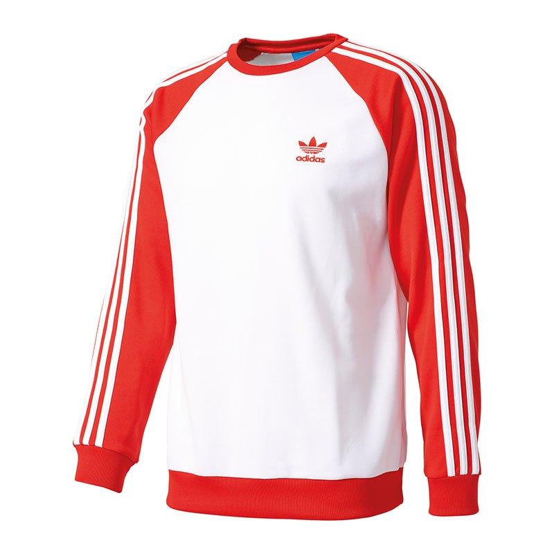 adidas pullover männer rot weiß