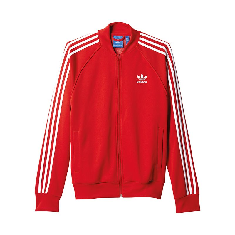 adidas originals sst track top jacke rot weiss lifestyle. Black Bedroom Furniture Sets. Home Design Ideas