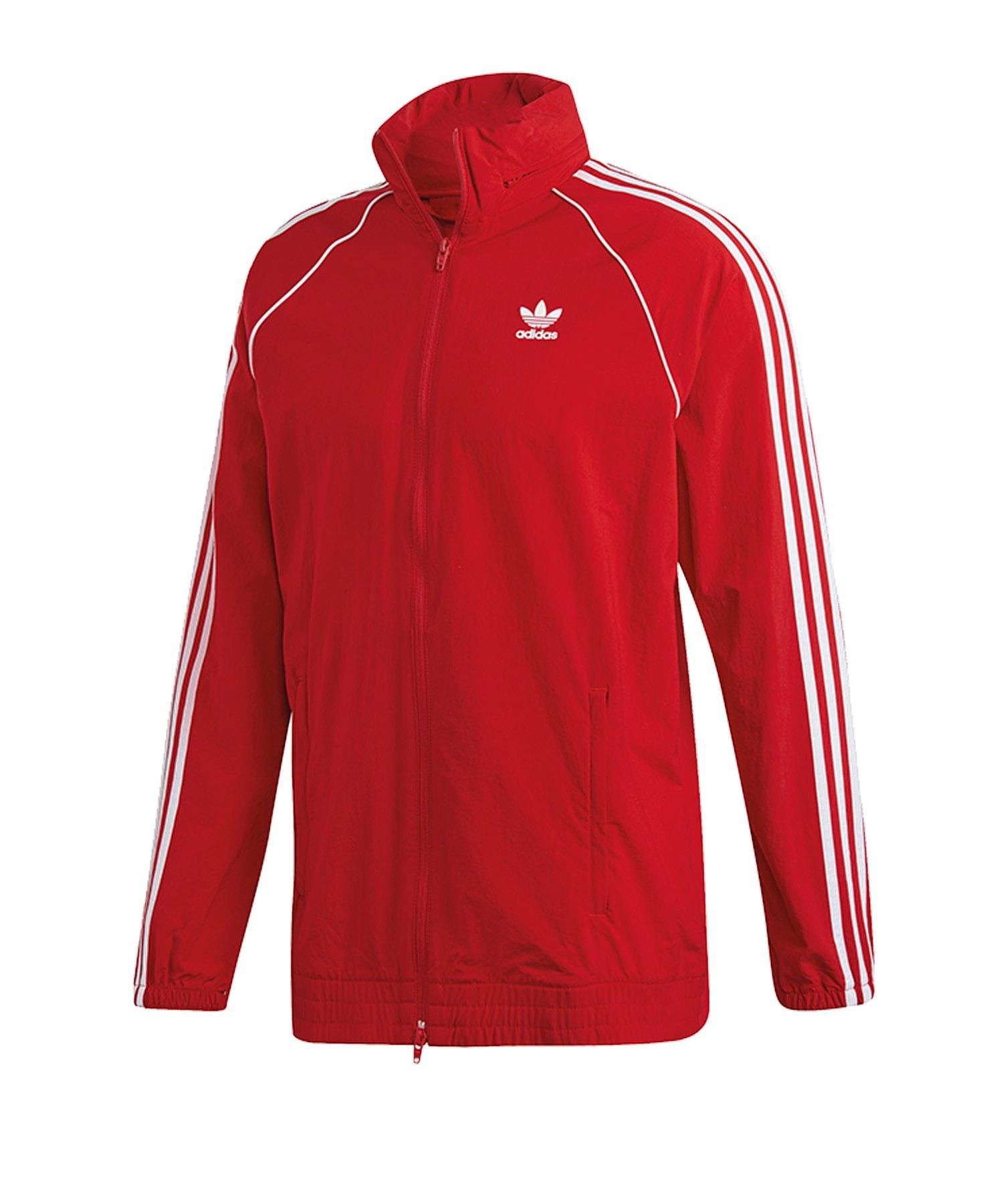adidas windbreaker rot weiß schwarz