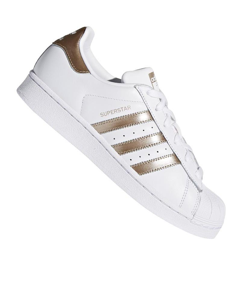 timeless design 3232f af544 adidas Originals Superstar Damen Weiss Gold
