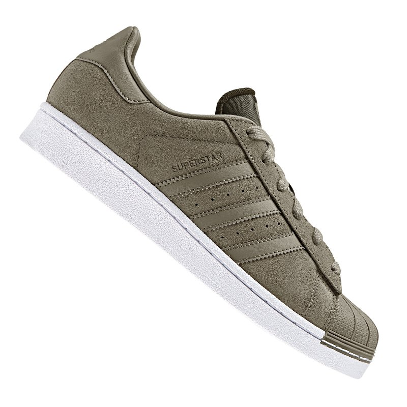 adidas Originals Superstar Sneaker Damen Khaki - khaki