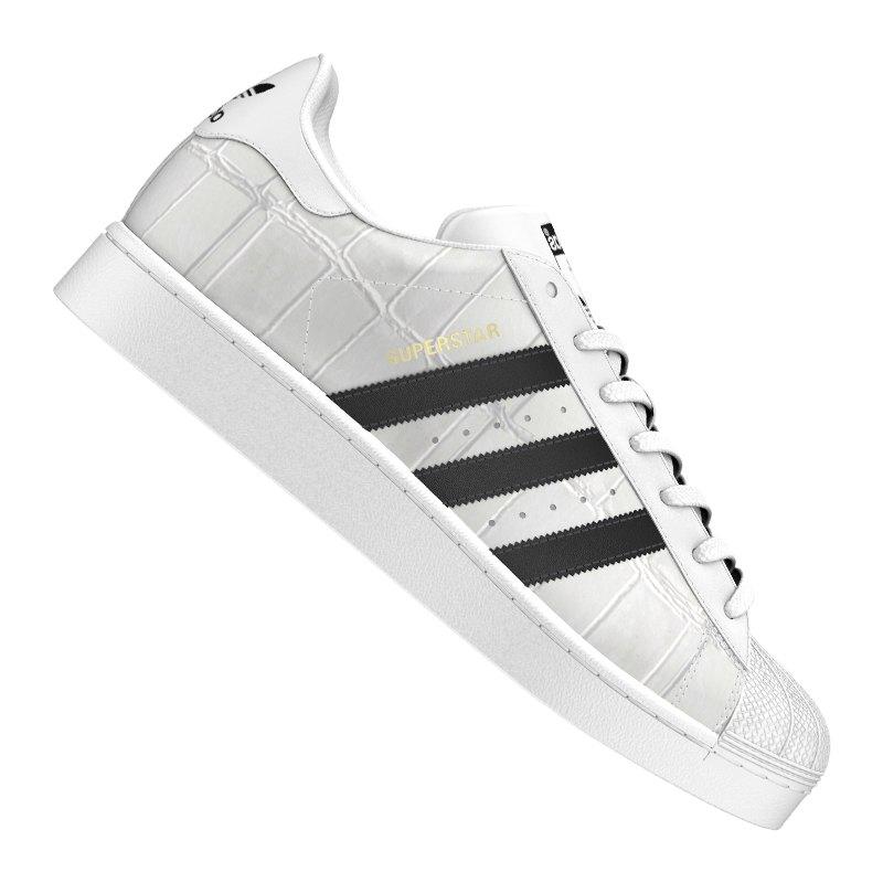 Adidas Superstar Schuhe Herren Originals Running WeißSchwarzWeiß C77124