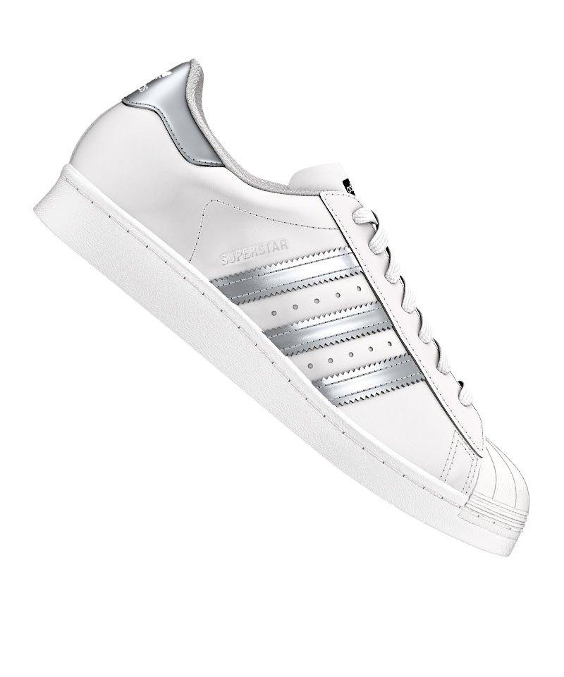 best service 90753 0fb7e adidas Originals Superstar Sneaker Weiss Silber - weiss