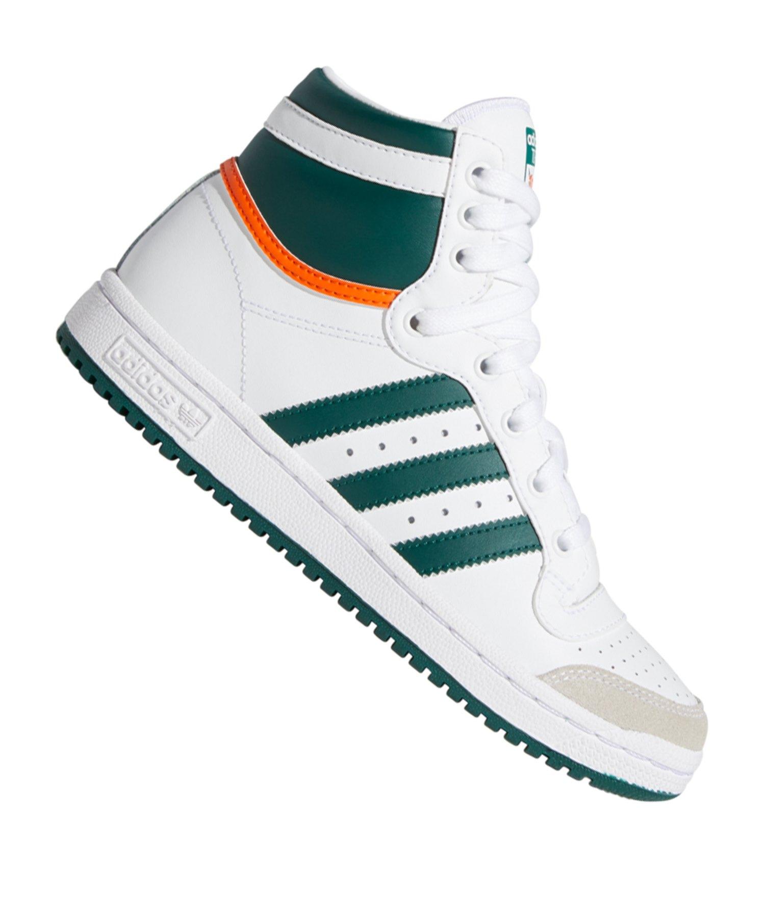 adidas Originals Top Ten HI Sneaker Kids Weiss