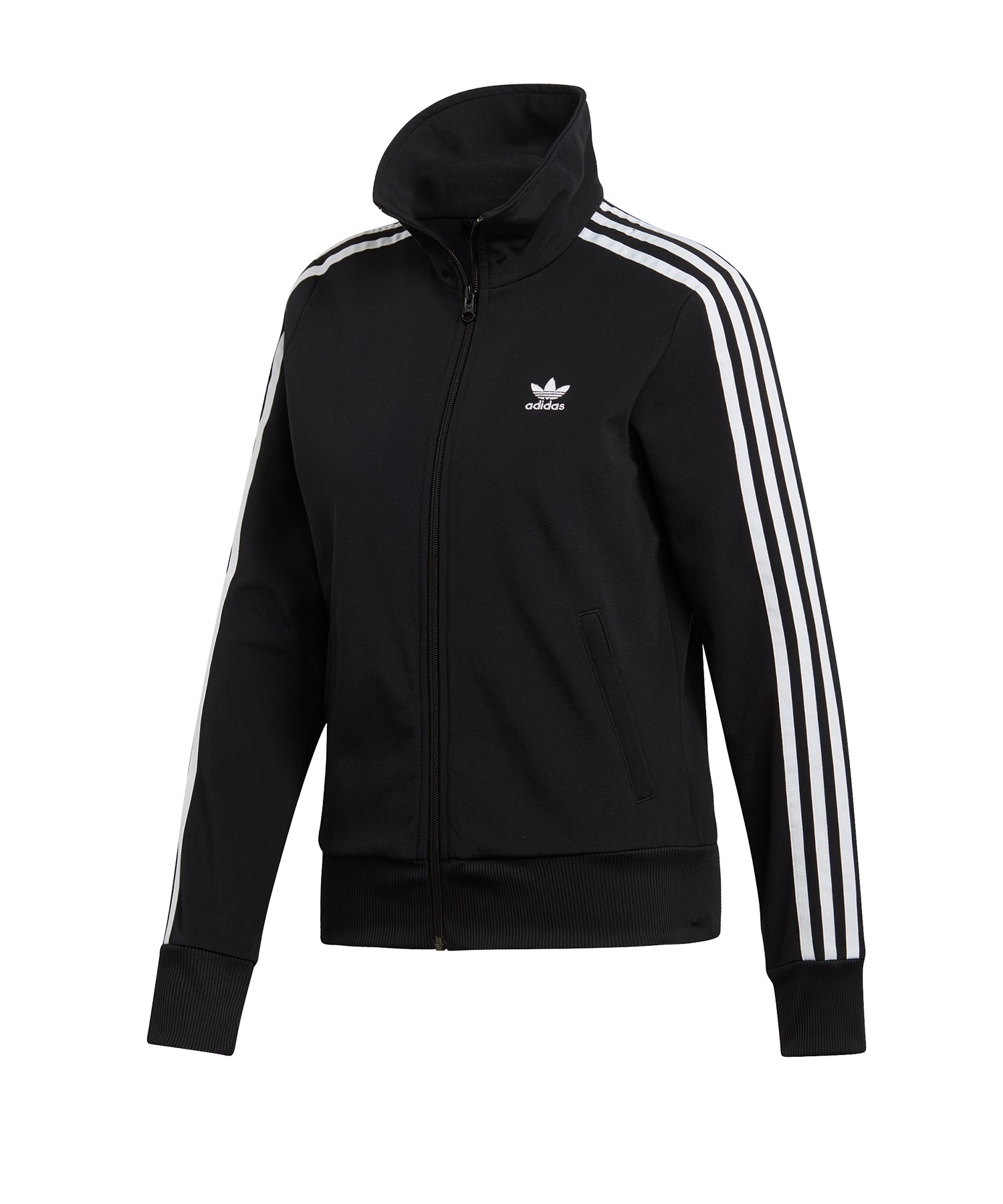 adidas Originals 3 Stripes Zip Hoodie Damen Sweatjacke Kapuzenjacke Schwarz