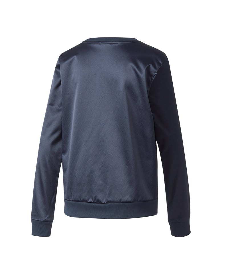adidas Originals Trefoil Crew Sweat Damen Blau   Langarmshirt ... 34bbd4735a