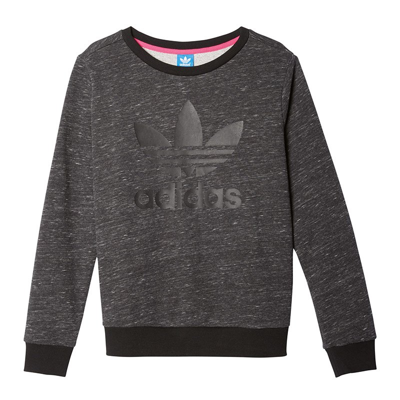 adidas originals trefoil crew sweat damen grau. Black Bedroom Furniture Sets. Home Design Ideas