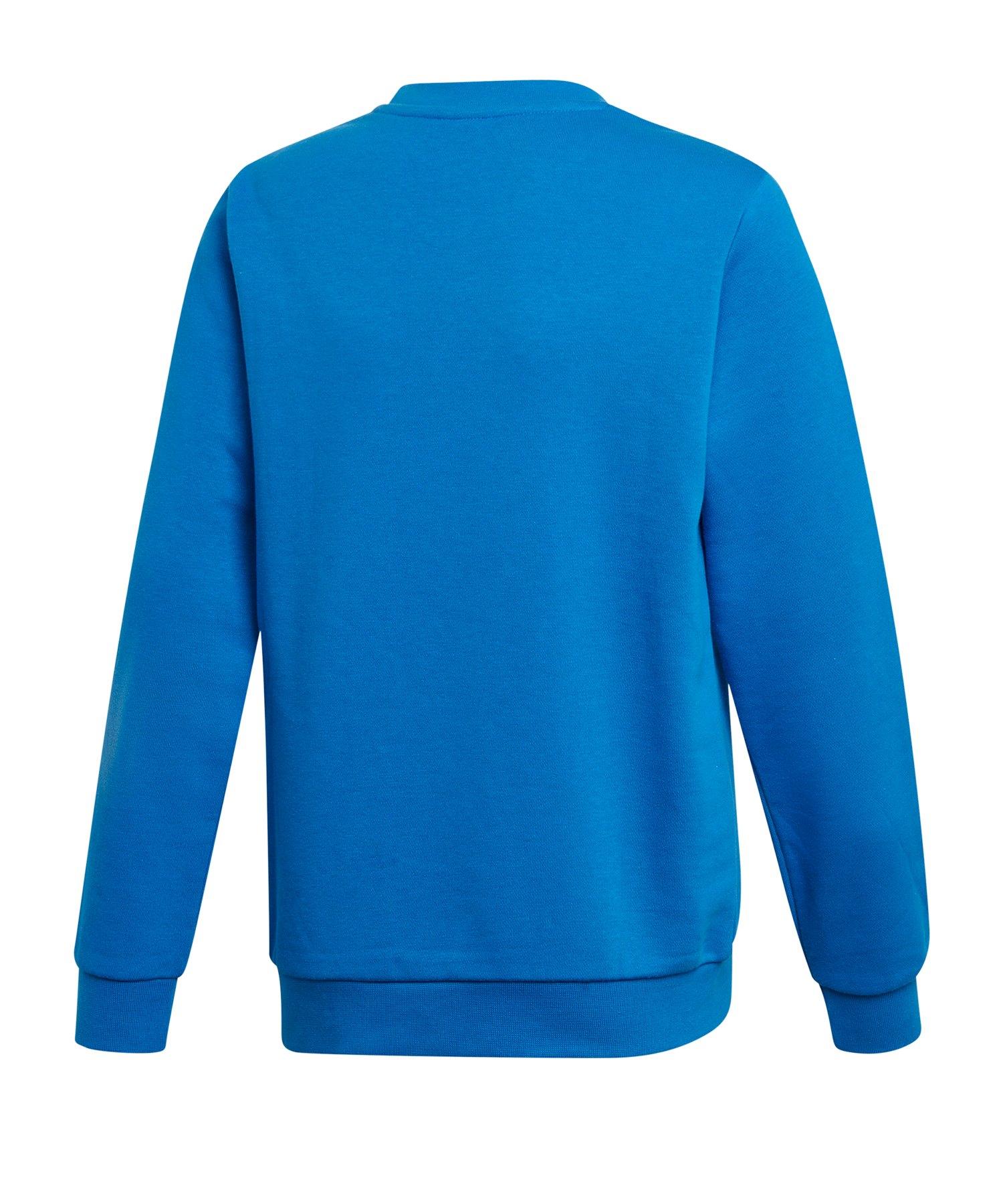 adidas Originals Trefoil Crew Sweatshirt Kids Blau