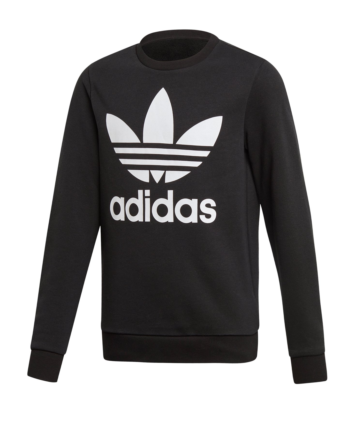 ADIDAS ORIGINALS Sweatshirt TREFOIL CREW SWEAT Hellblau