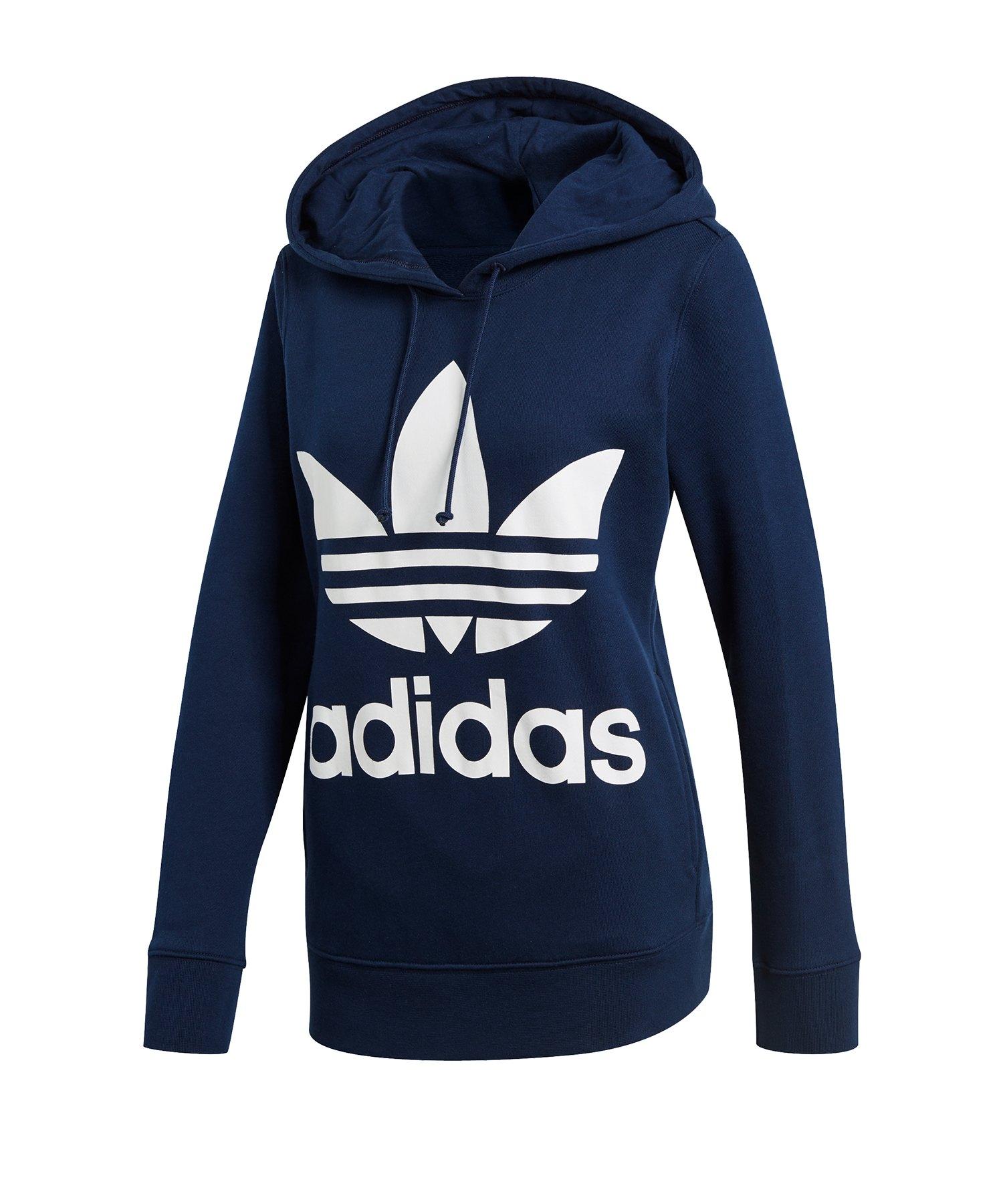 letzte Auswahl Kaufen Sie Authentic großer Rabatt adidas Originals Trefoil Hoody Damen Blau