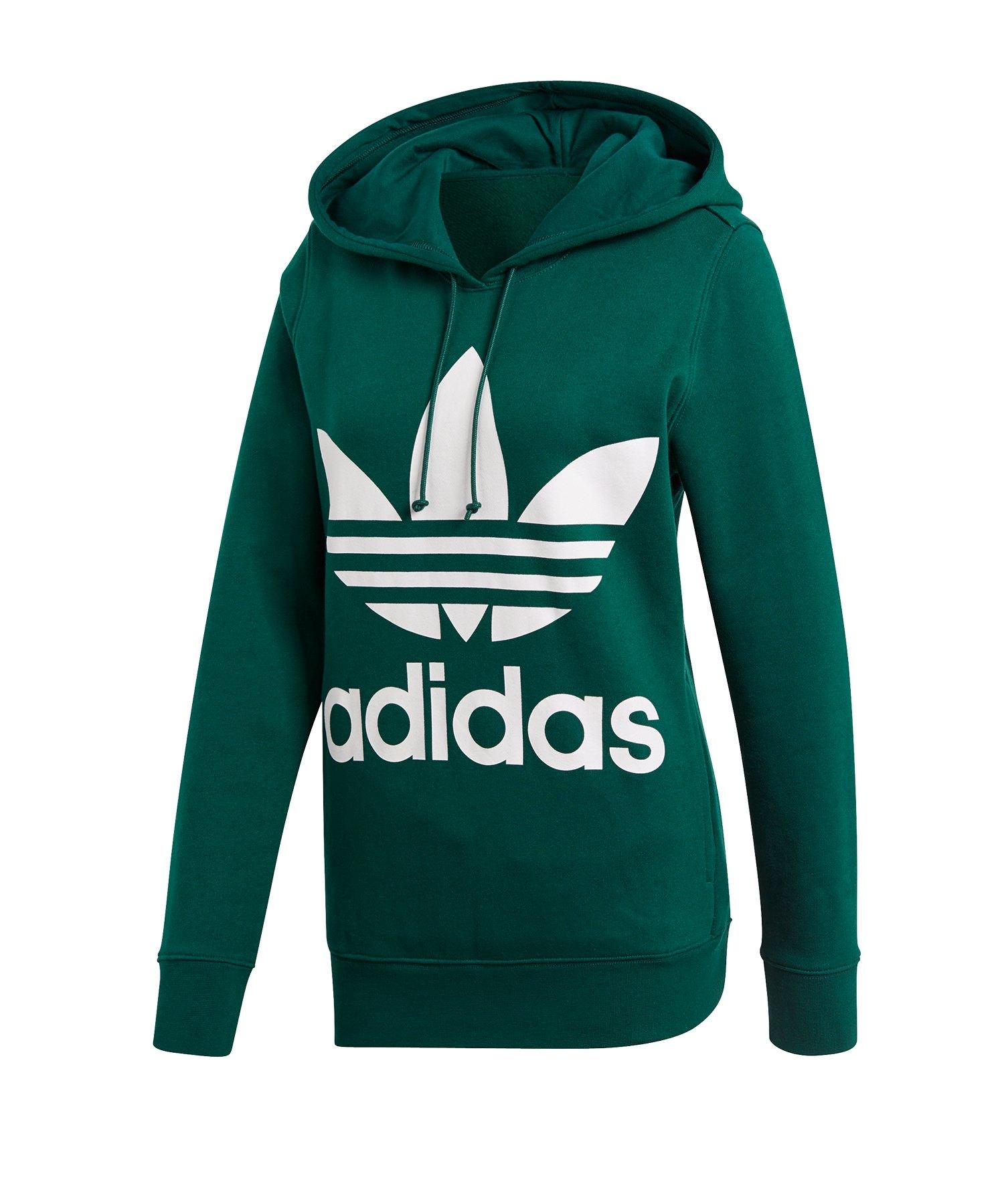sehen 51f89 e2c08 adidas trefoil hoodie grün refugium