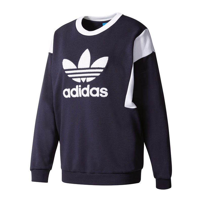 adidas originals trefoil sweatshirt damen blau women. Black Bedroom Furniture Sets. Home Design Ideas