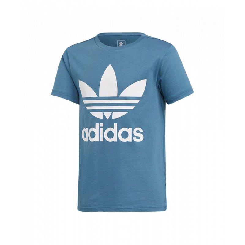 adidas Originals Trefoil T Shirt Kids Blau Weiss