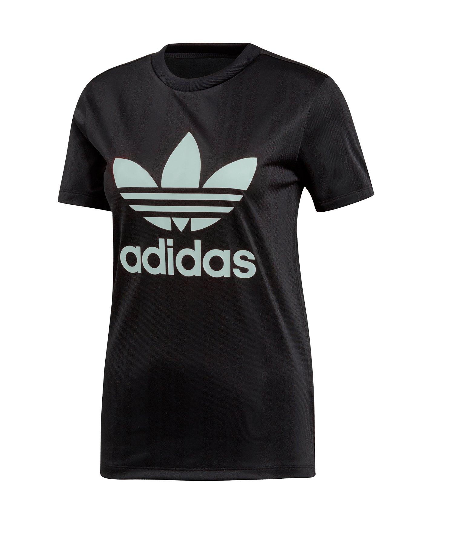 adidas Originals Trefoil Tee T Shirt Damen Schwarz