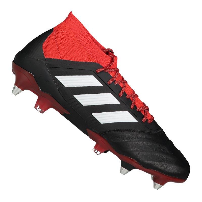 save off ea84b 9e974 adidas Predator 18.1 SG Leder Schwarz Rot - schwarz