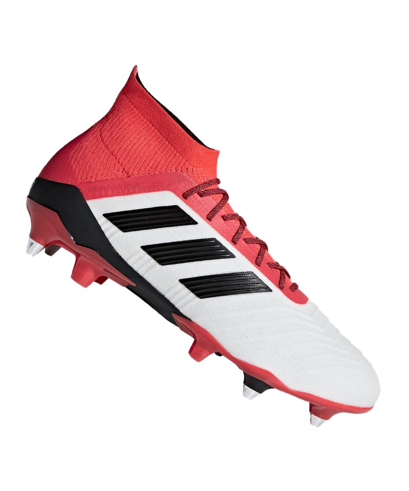 best loved 036f6 dddd1 adidas Predator 18.1 SG Weiss Rot - weiss