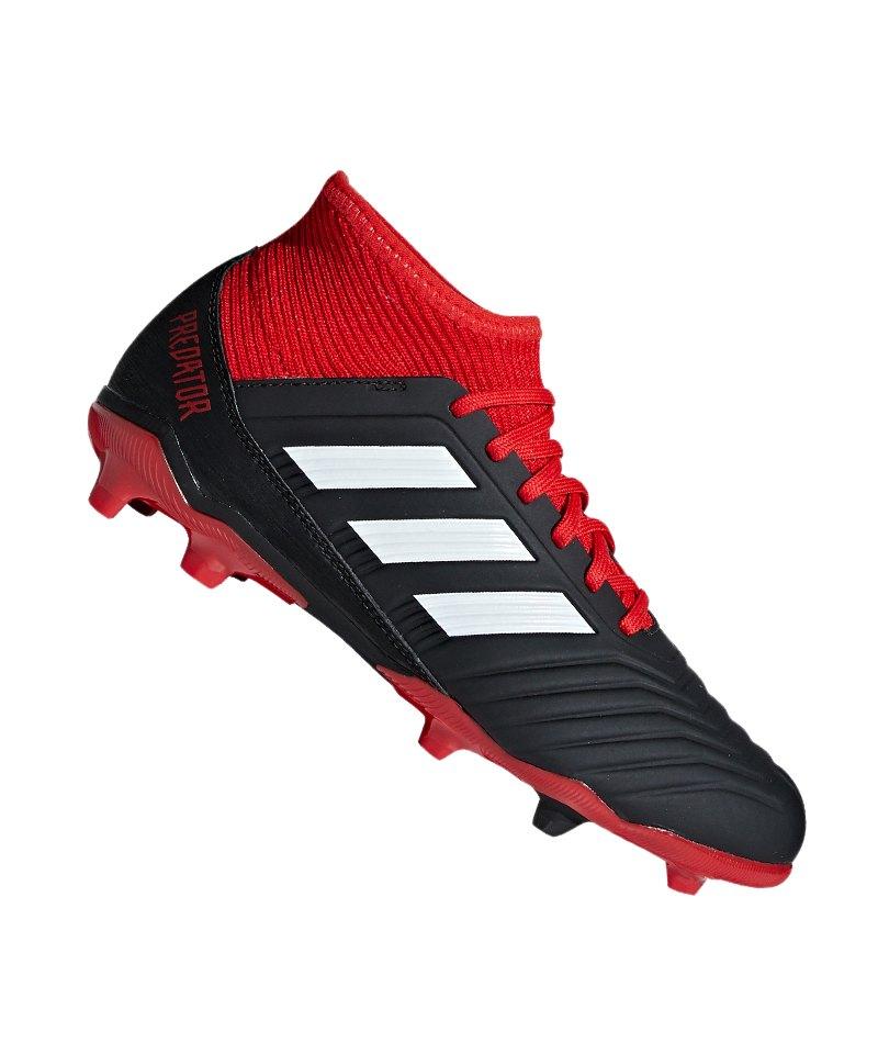 03c17702226f77 adidas Predator 18.3 FG J Kids Schwarz Rot - schwarz