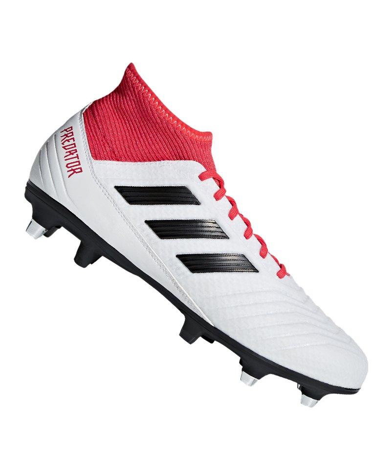 adidas Predator 18.3 SG Weiss Rot