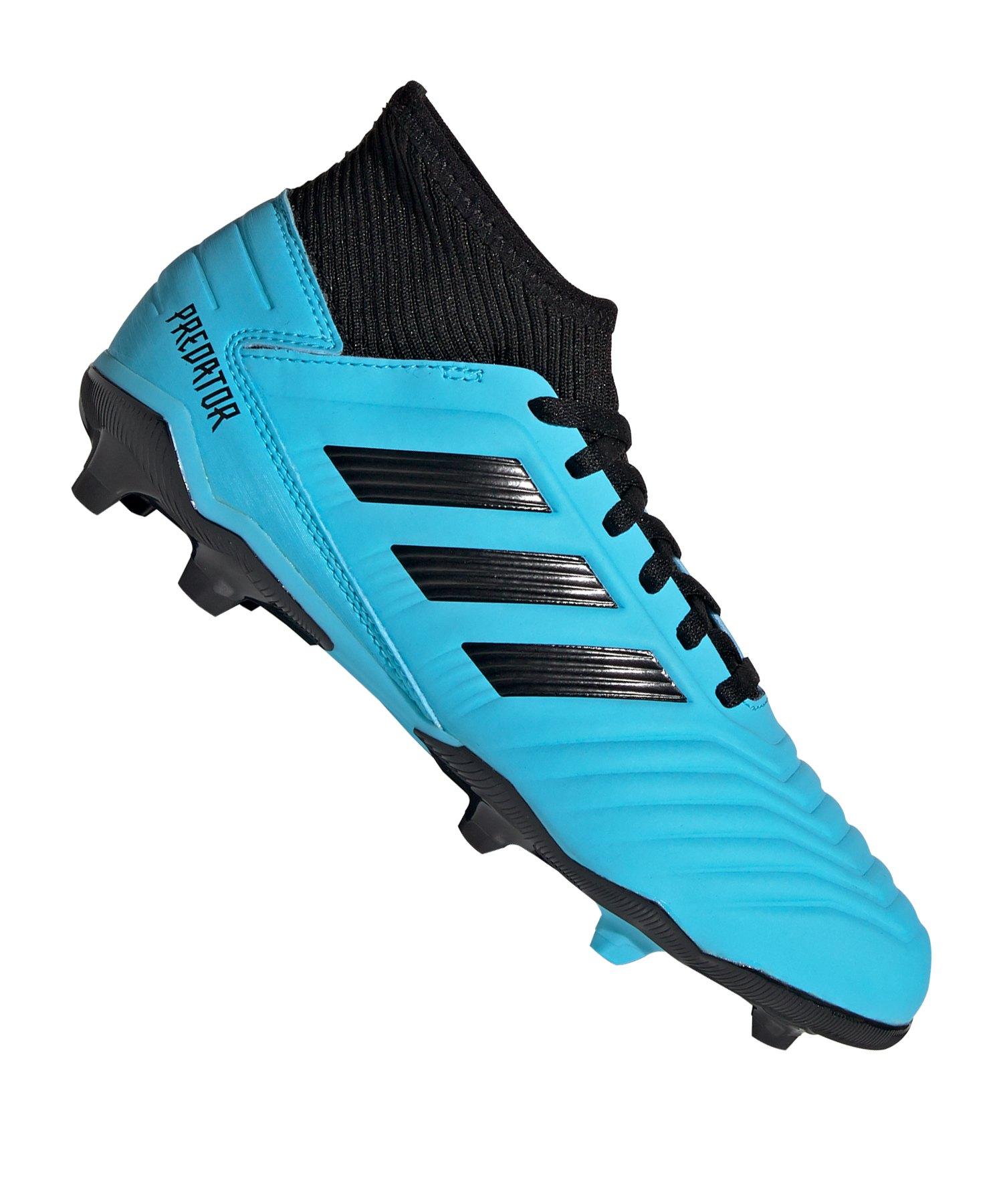Adidas Schwarz 3 Predator J Blau Kids Fg 19 T3FclKJ1