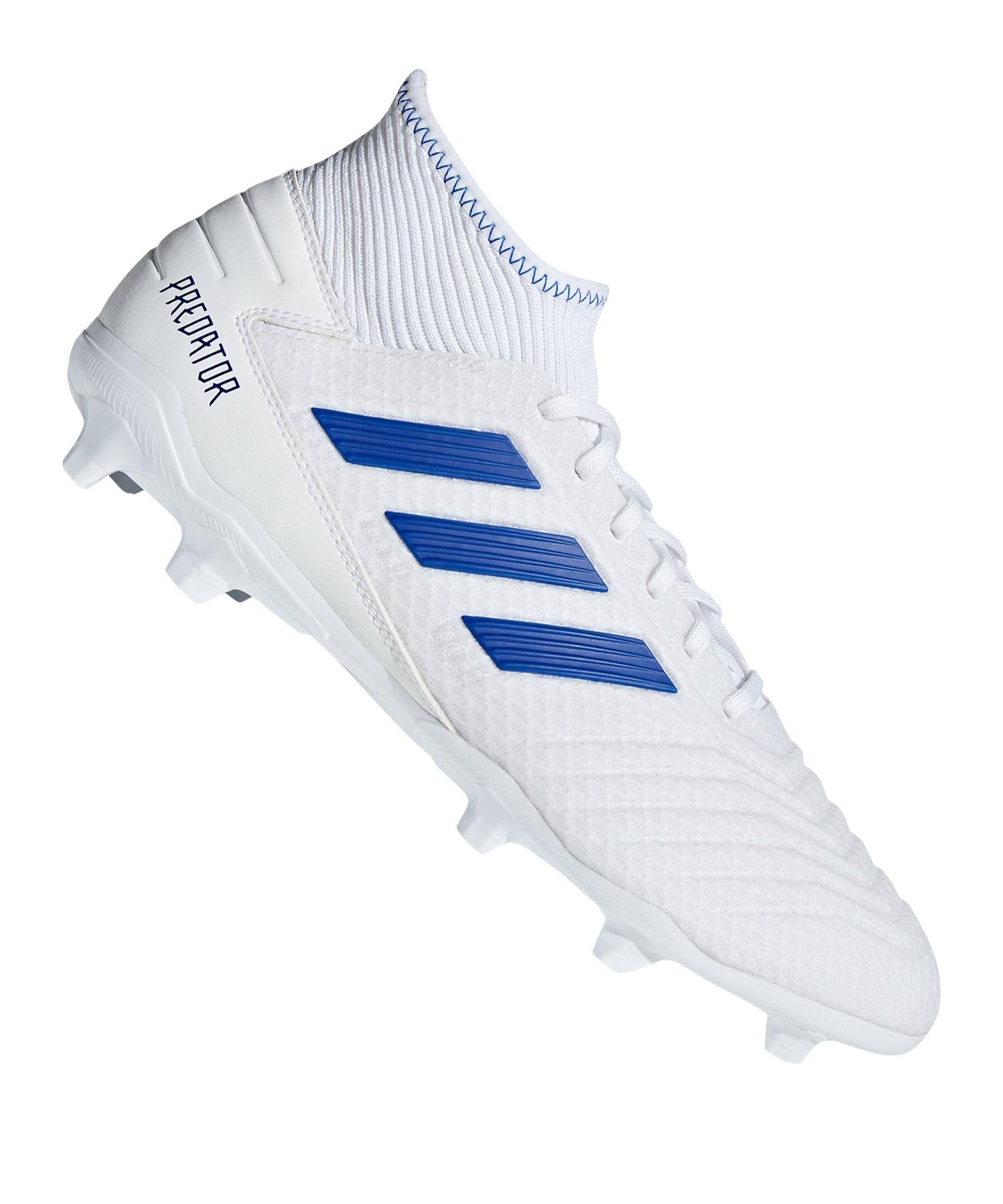 buy online 69d96 25161 adidas Predator 19.3 FG Weiss Blau - weiss