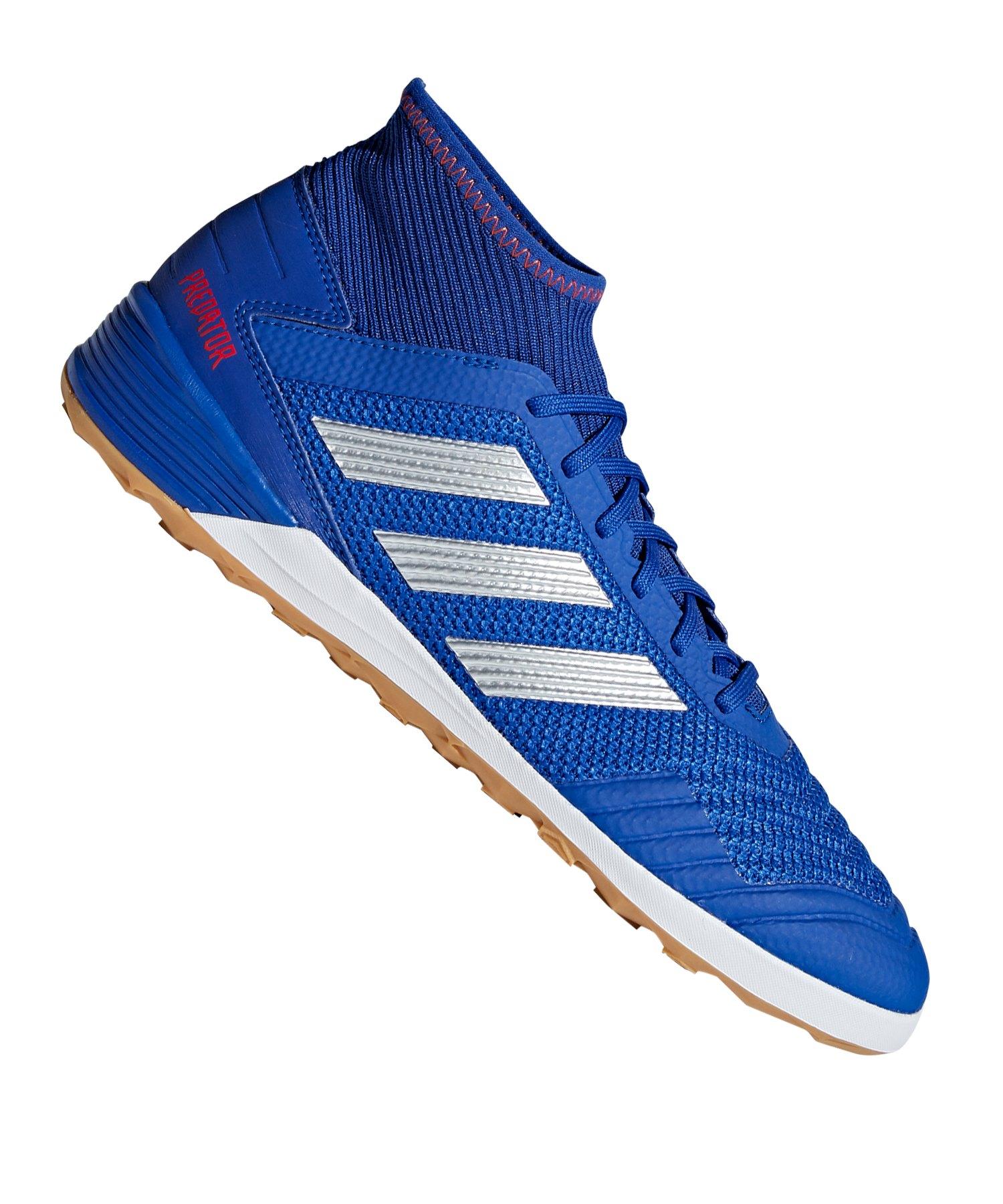 pretty nice 29e58 52ecf adidas Predator 19.3 IN Halle Blau Silber - blau