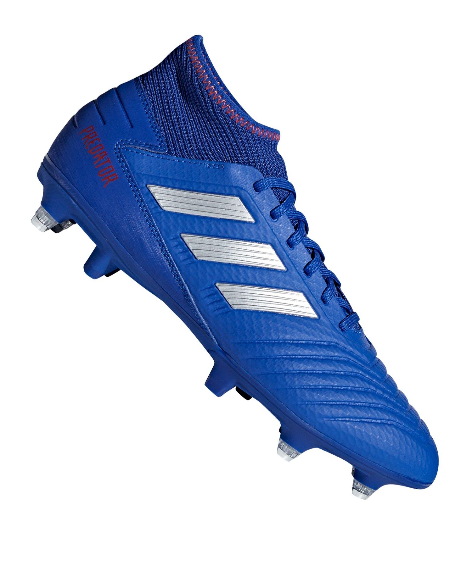 adidas Predator 19.3 SG Blau Silber