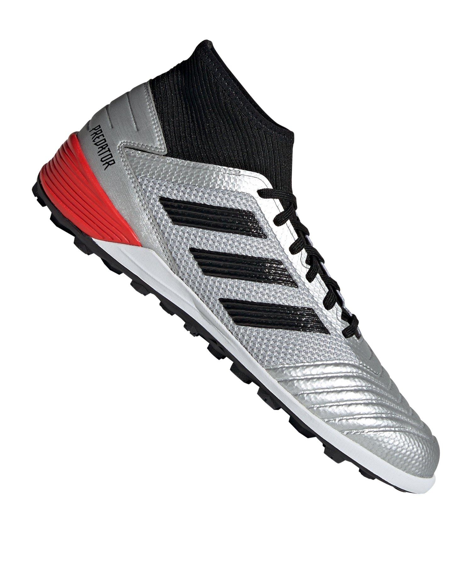 adidas Predator 19.3 TF Silber Schwarz Rot | Fußballschuh