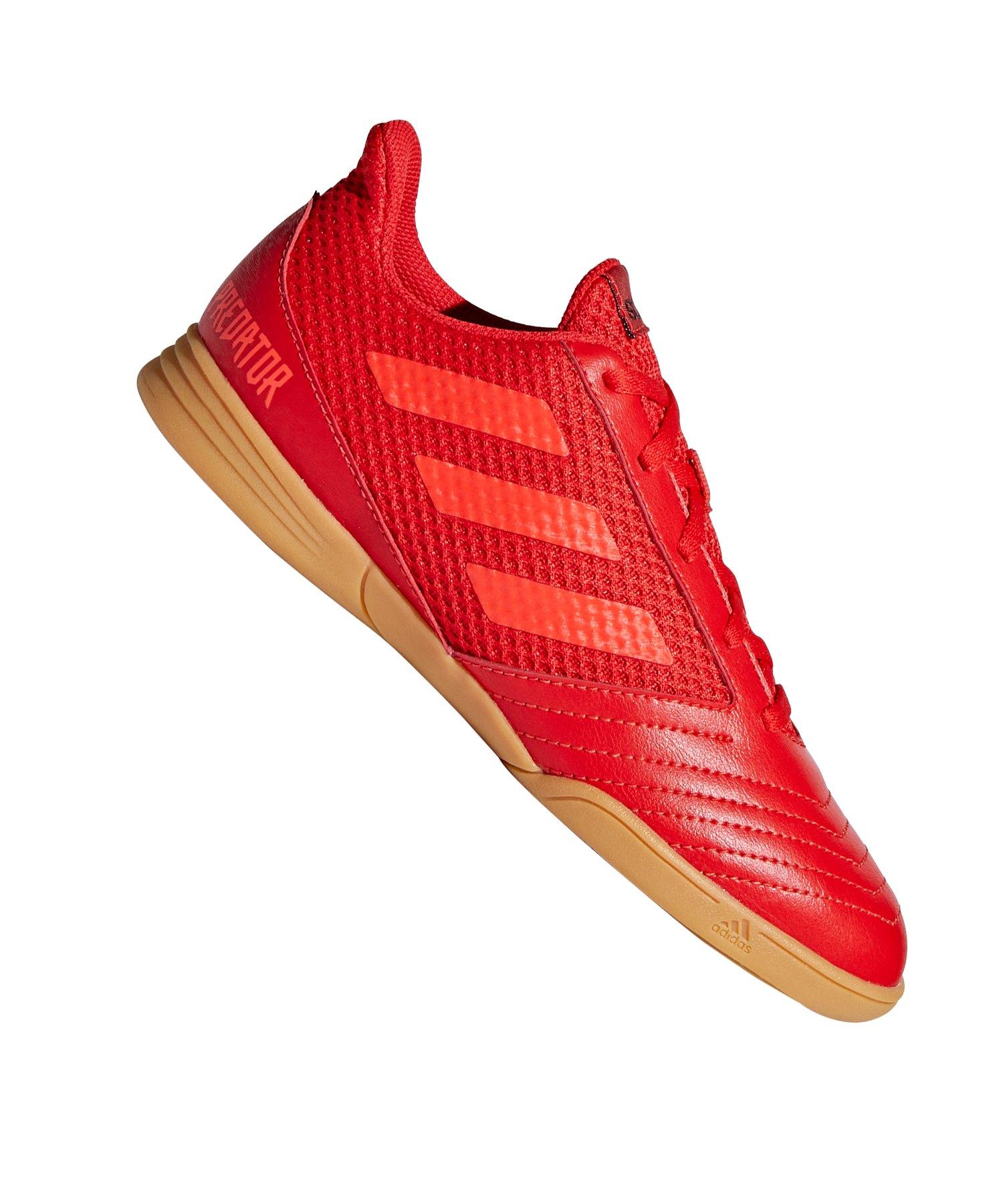 adidas Predator 19.4 IN Sala Kids Rot Schwarz