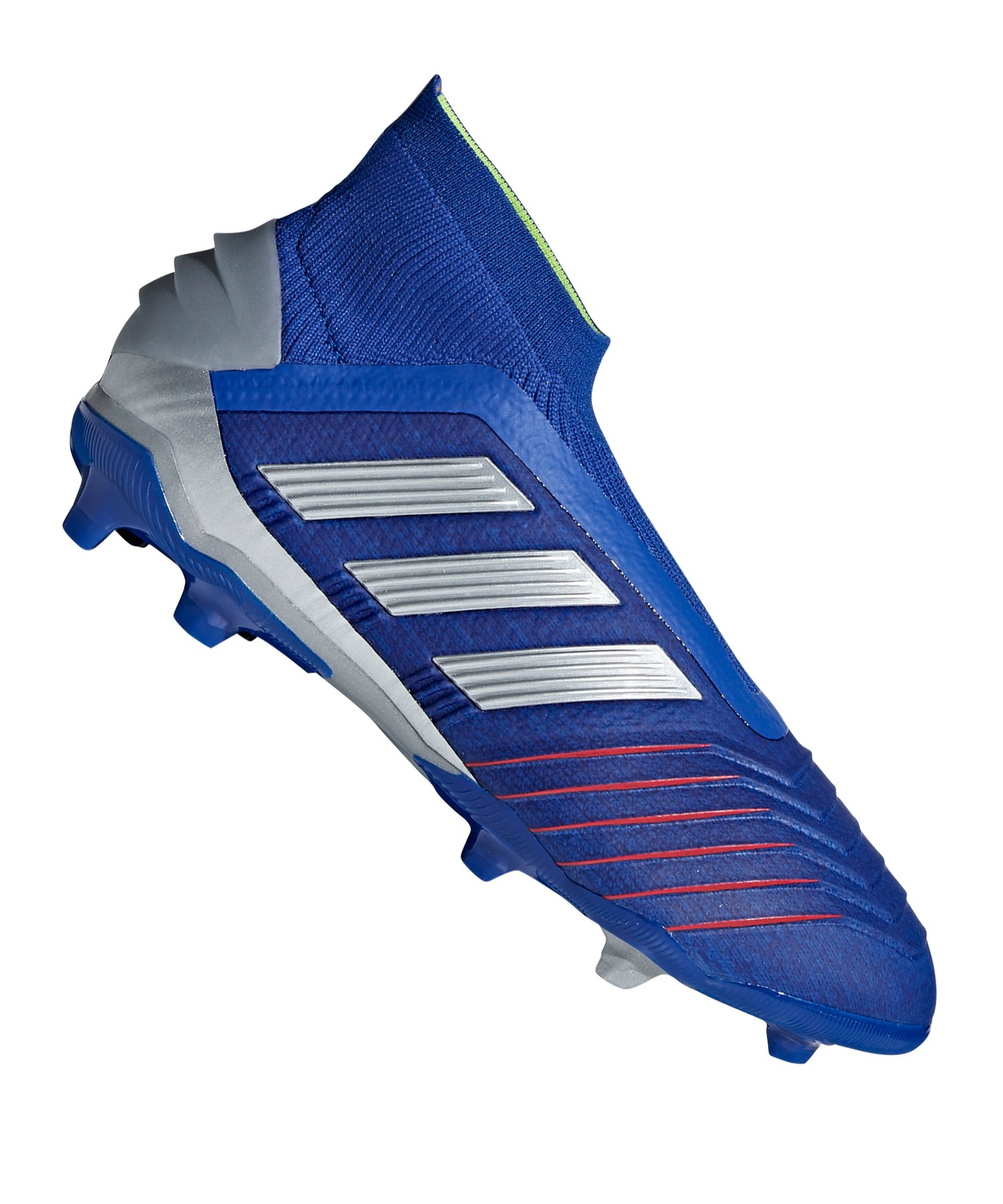 size 40 3f46d 2b2c1 adidas Predator 19+ FG J Kids Blau Silber - blau