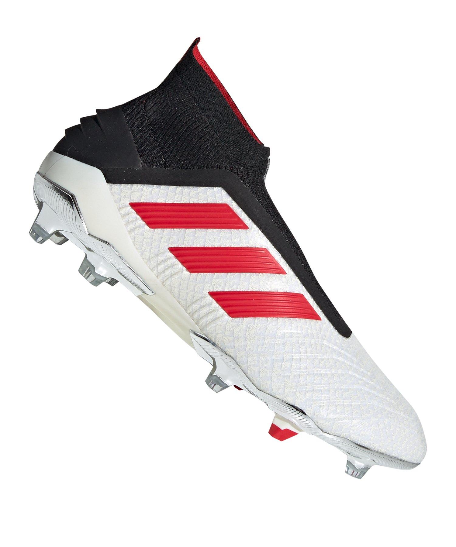 adidas Predator 19+ FG Pogba Weiss Schwarz
