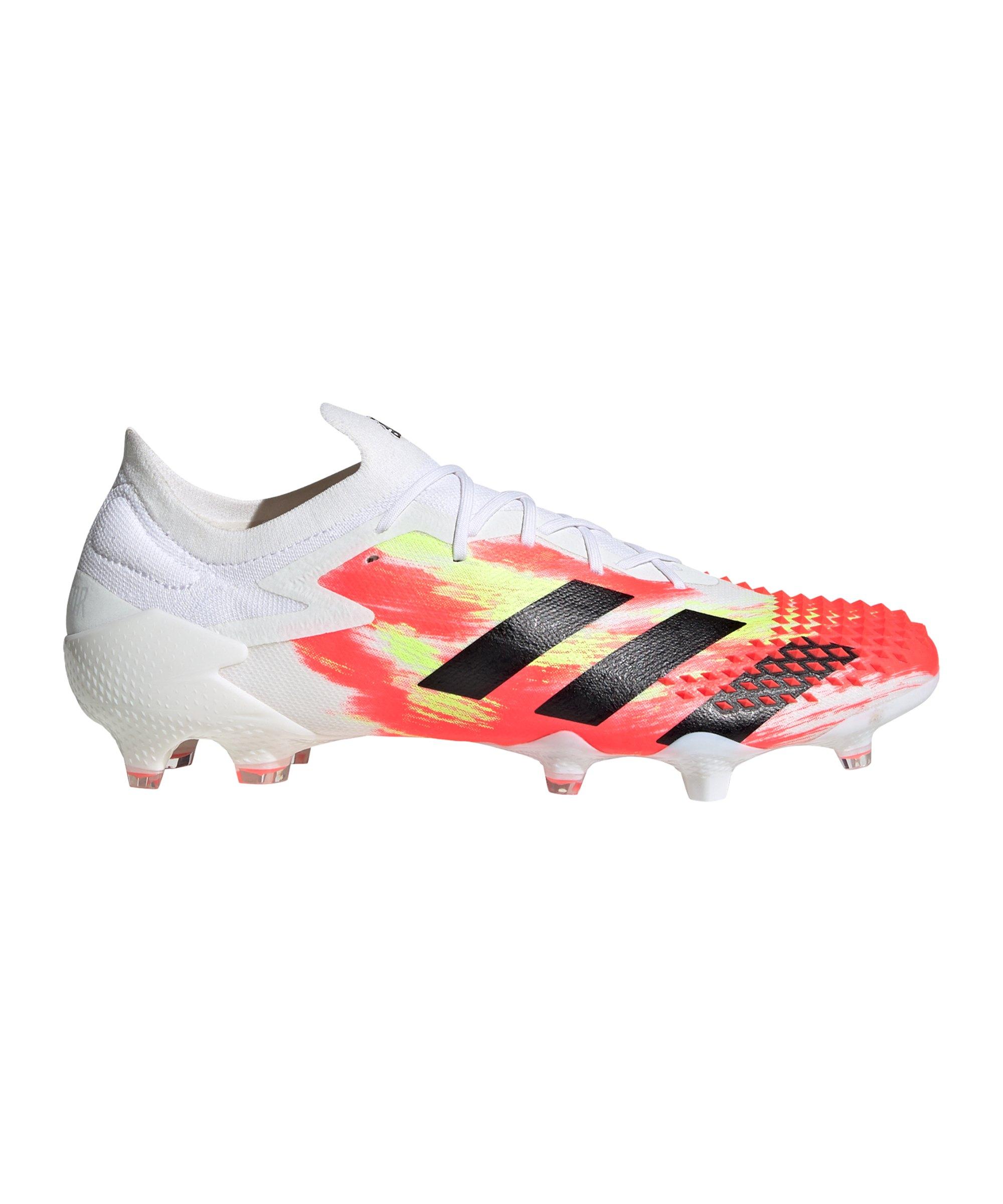 Adidas Predator Uniforia 20.1 L FG Weiss Rot Gelb