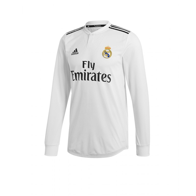 Adidas Real Madrid Auth Trikot Home 1819 Weiss Replica Fanshop