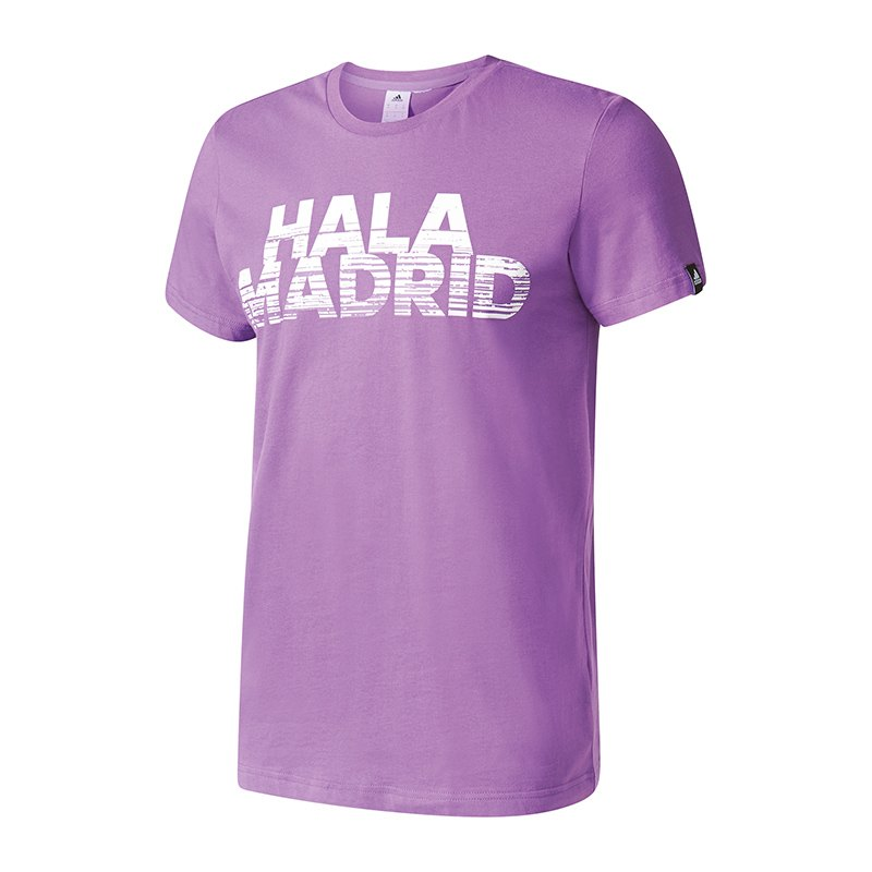 adidas real madrid graphic tee better t shirt lila shirt. Black Bedroom Furniture Sets. Home Design Ideas