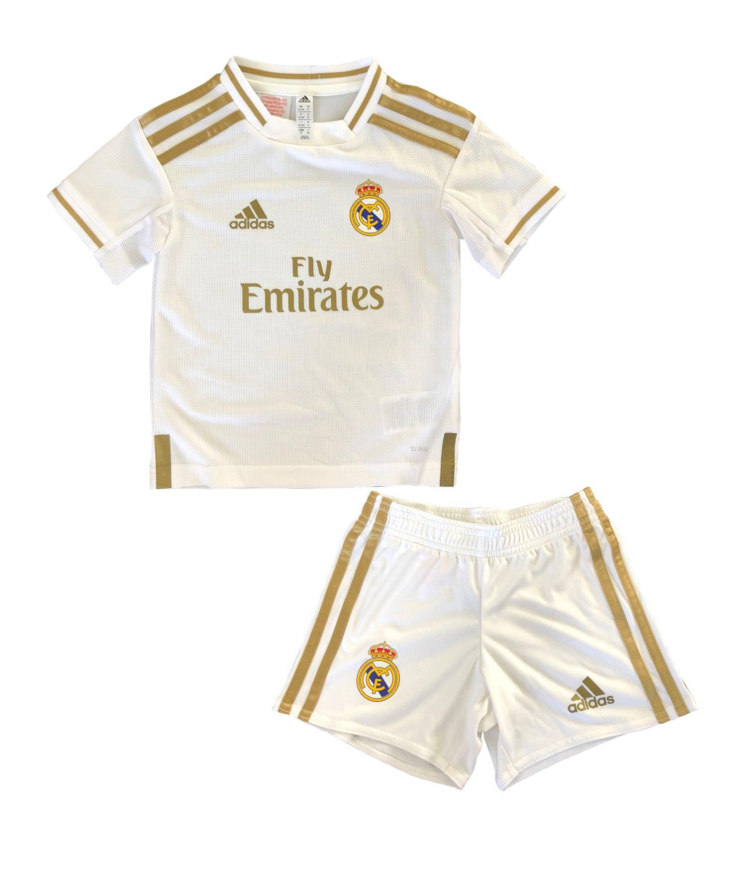 moda más deseable mejor sitio Tener cuidado de adidas Real Madrid Minikit Home 2019/2020 Weiss   Fan-Shop   Replica