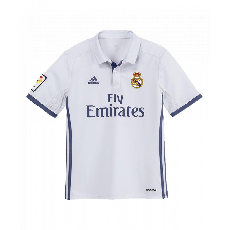 adidas real madrid trikot home kids 2016 17 weiss jersey. Black Bedroom Furniture Sets. Home Design Ideas