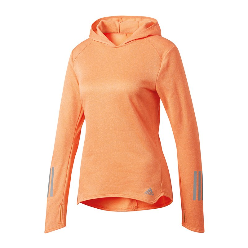 adidas response hoody running damen orange hoody. Black Bedroom Furniture Sets. Home Design Ideas