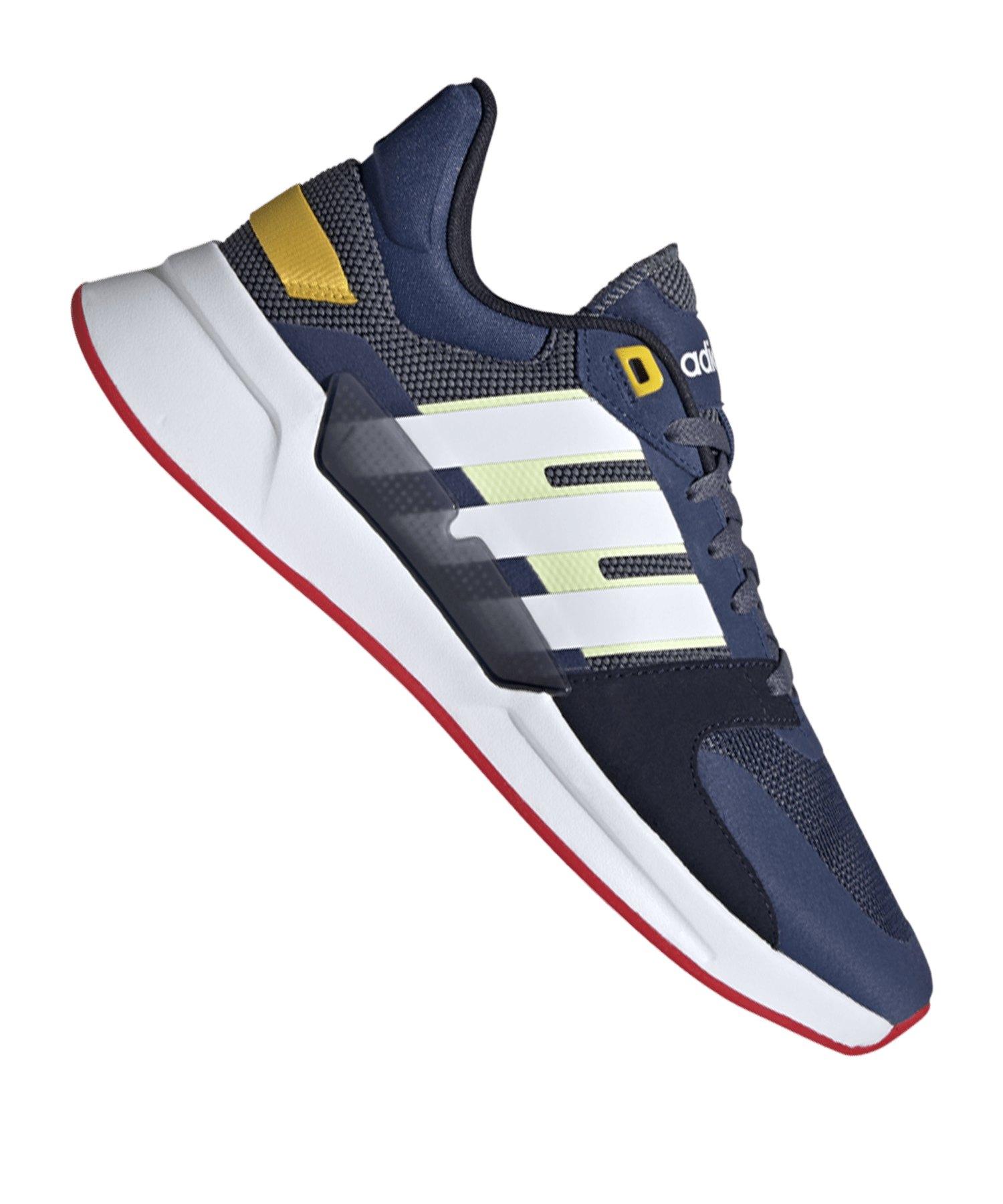 Adidas Run90s Sneaker Blau Weiss Streetstyle Freizeit Street