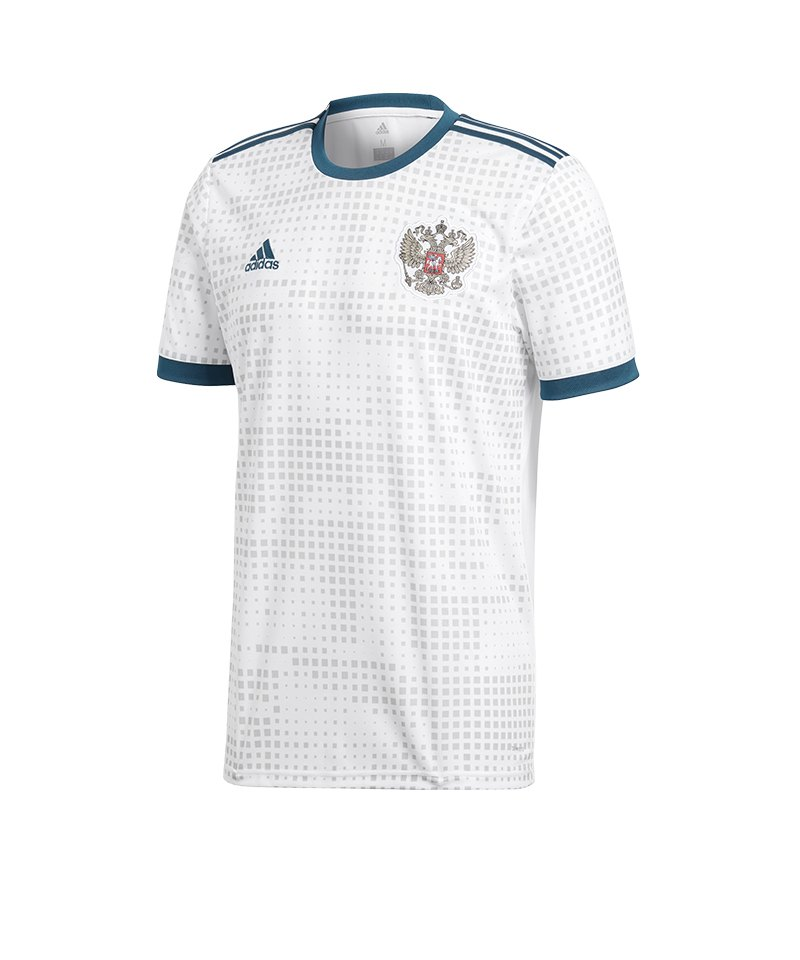 adidas russland trikot away wm 2018 weiss fanartikel. Black Bedroom Furniture Sets. Home Design Ideas