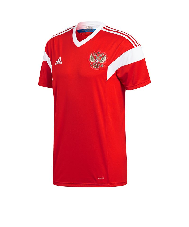 adidas russland trikot home wm 2018 rot weiss fanartikel. Black Bedroom Furniture Sets. Home Design Ideas