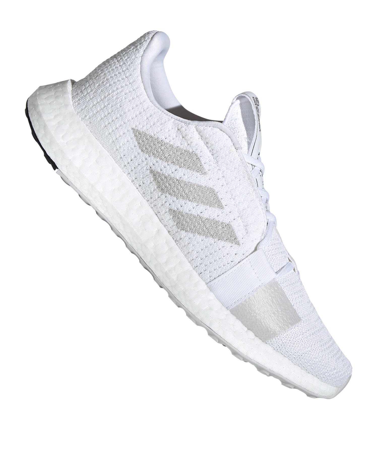 adidas Sense Boost Go Running Weiss Schwarz