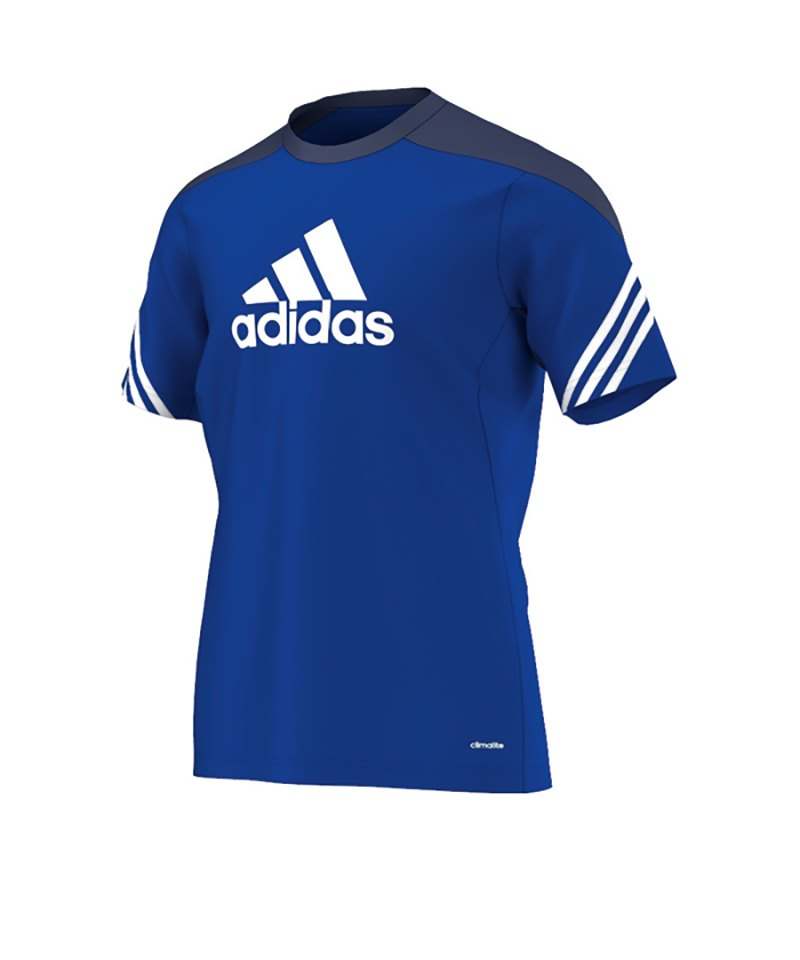 adidas Sereno 14 Training Jersey T Shirt Blau