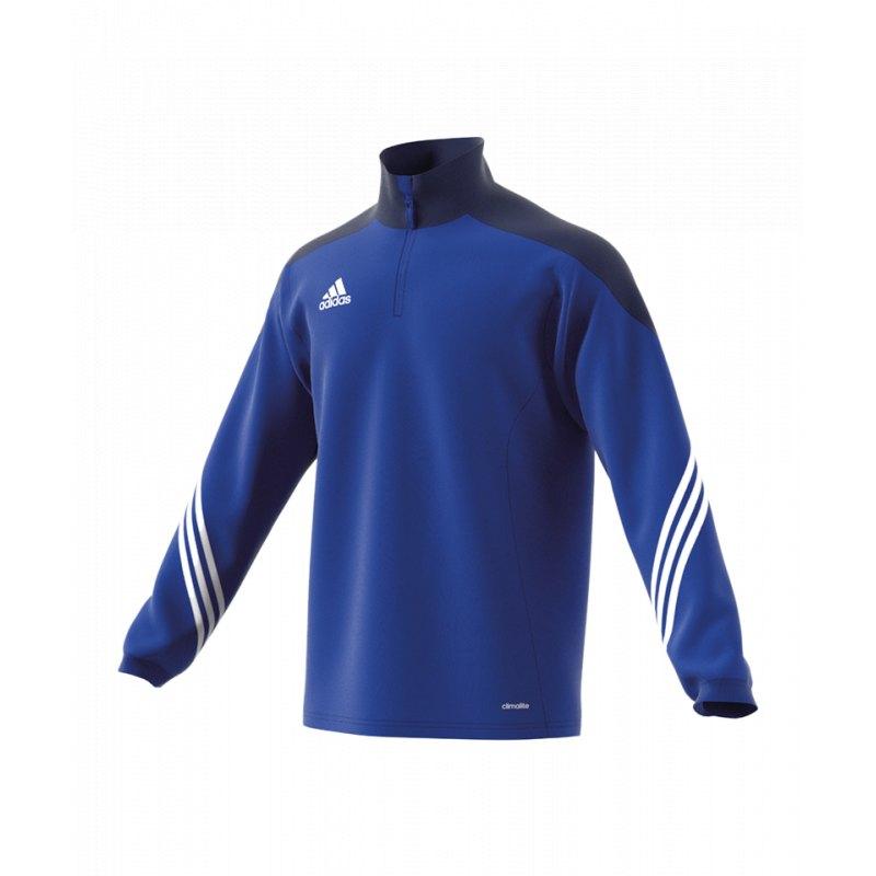 adidas sereno 14 training top blau weiss sweatshirt herren. Black Bedroom Furniture Sets. Home Design Ideas