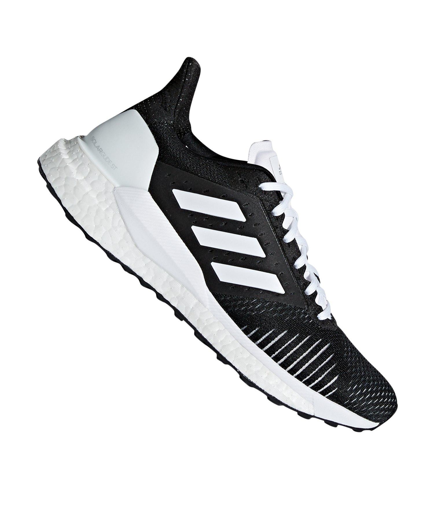 online store f63d8 a95a5 adidas Solar Glide ST Damen Running Schwarz Weiss - schwarz