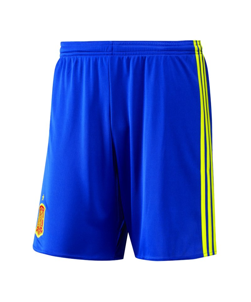 adidas spanien short home kids em 2016 blau kurze hose. Black Bedroom Furniture Sets. Home Design Ideas