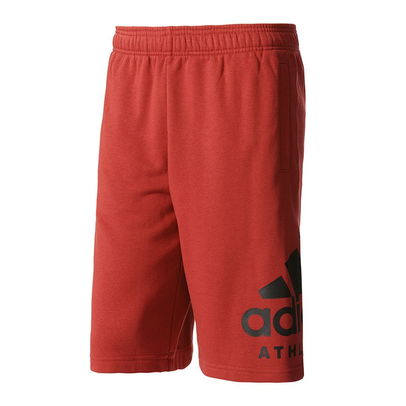adidas sport id athletics logo short hose kurz rot. Black Bedroom Furniture Sets. Home Design Ideas