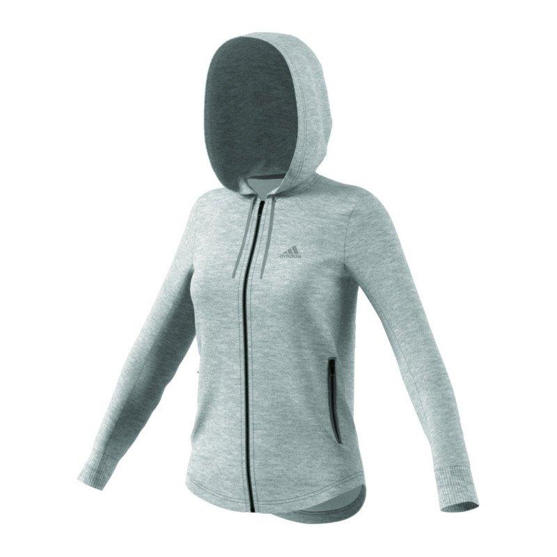 adidas sport id fullzip hoody jacke damen grau hoody freizeit lifestyle damen women. Black Bedroom Furniture Sets. Home Design Ideas