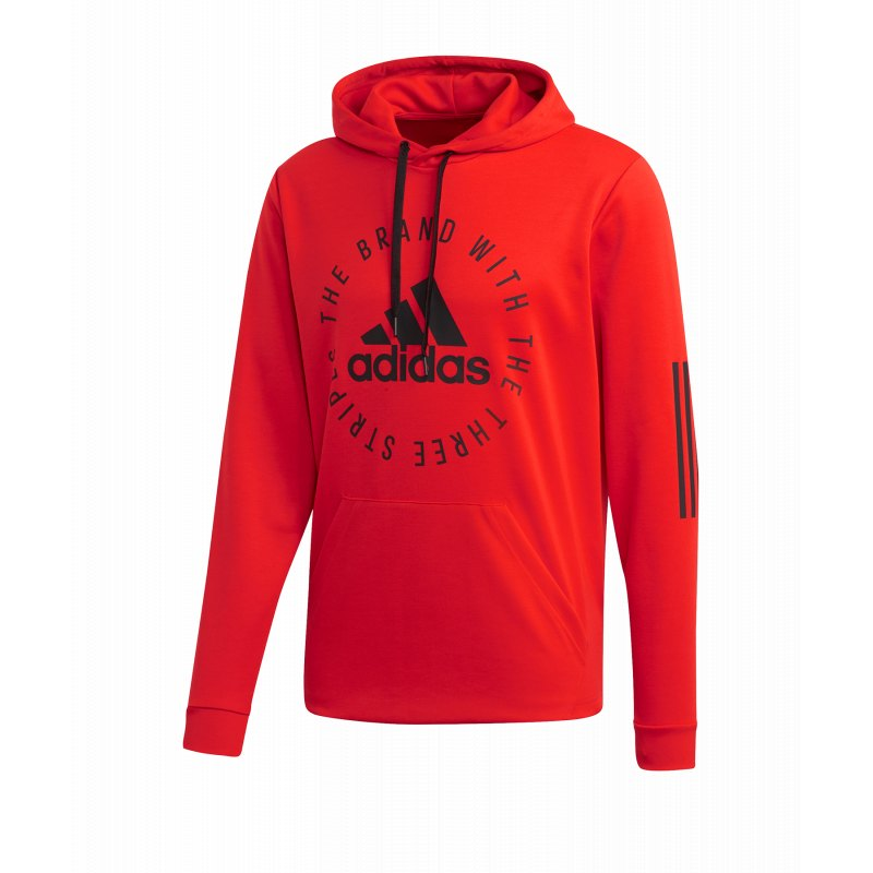 10acc930030ea adidas Sport ID Kapuzensweatshirt Rot Schwarz | Lifestyle | Freizeit ...
