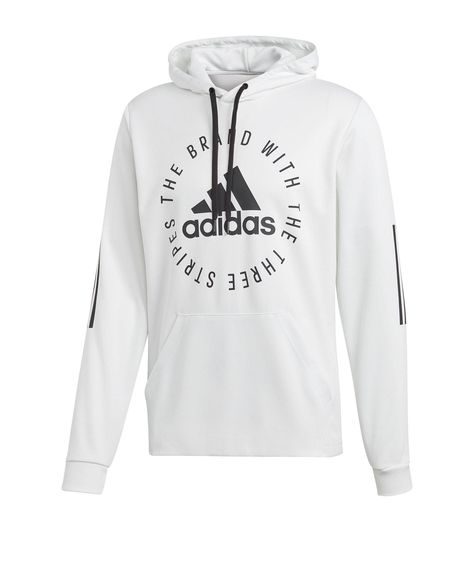 33376e740eff9 adidas Sport ID Kapuzensweatshirt Weiss Schwarz | Lifestyle ...