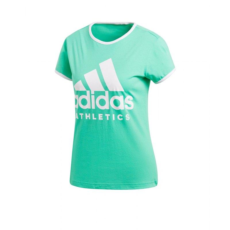 adidas Sport ID Slim T Shirt Damen Blau Weiss
