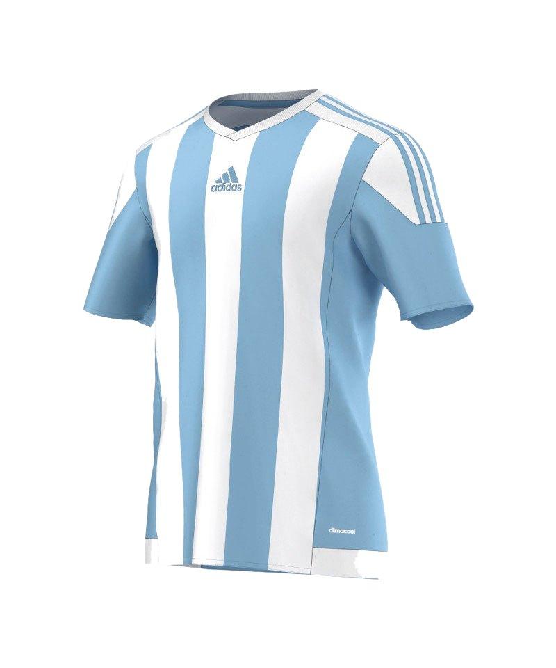 adidas striped 15 trikot kurzarm blau weiss kurzarmtrikot jersey herrentrikot teamwear. Black Bedroom Furniture Sets. Home Design Ideas